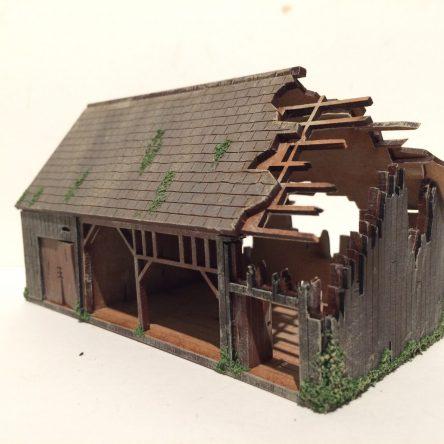 28mm Normandy 28-NY-Ruined Barn KIT