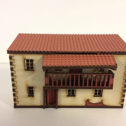 15mm Spanish/Italian large 2 storey house with balcony