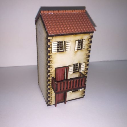 15mm Spanish/Italian  Small 3 storey house