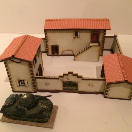 15mm Spanish/Italian villa