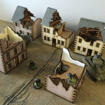 20mm Normandy 20-NY-Ruined village set kits
