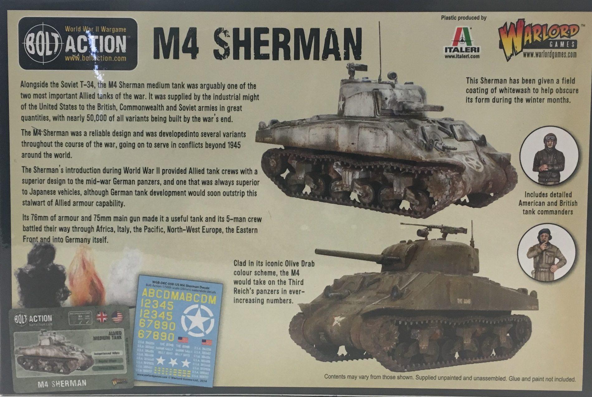 Bolt Action 28mm US M4 Sherman tank