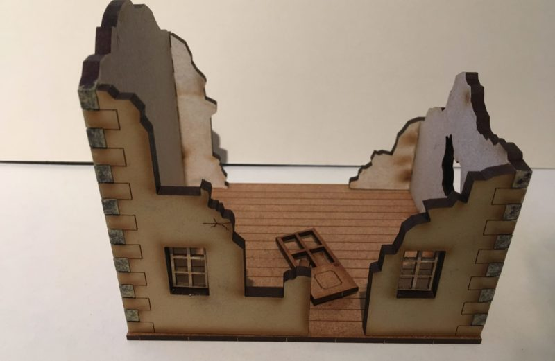 28mm Ruined Building A