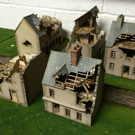 28mm Normandy 28-NYR-Ruined Set B (Kits FR, GR, H, JR and KR)