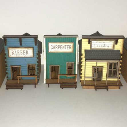 28mm Old West Town set A