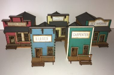 old west set of 5 020