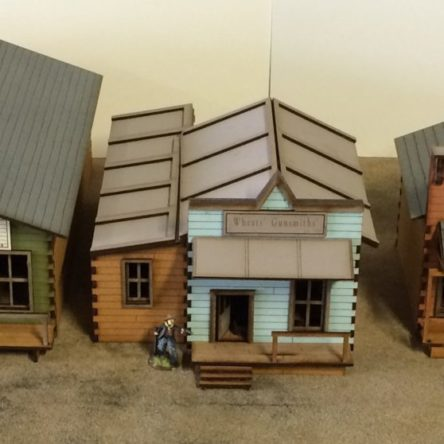 28mm Old West Town set B