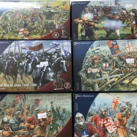 Medieval plastic figures