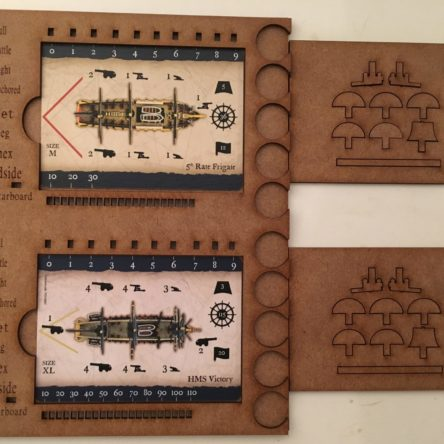 28mm Black Seas double card holders set of 4