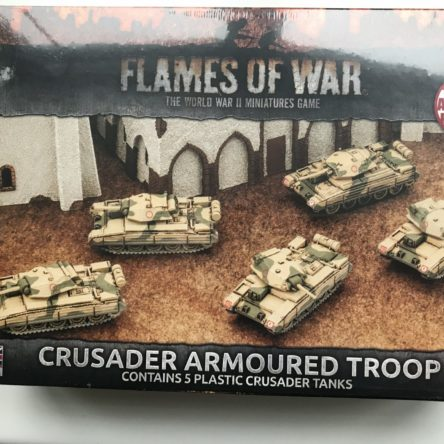 15mm  Flames of War British Crusader Armoured troop
