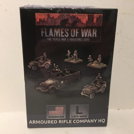 15mm  Flames of War US Armoured Rifle company HQ
