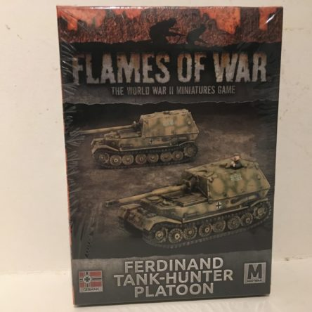 15mm  Flames of War  Ferdinand tank-hunter platoon (2 tanks)