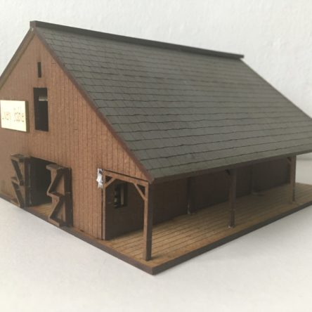 15mm ACW/Old West Livery stable or barn.