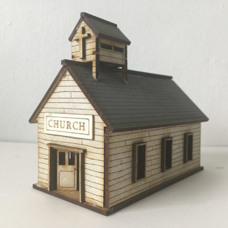 15mm ACW/Old West Church/Schoolhouse/Courthouse