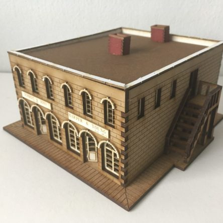 15mm ACW/Old West Town block with Bank