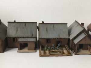 15mm Russian rural buildings