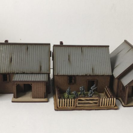 15mm Russian rural Village set