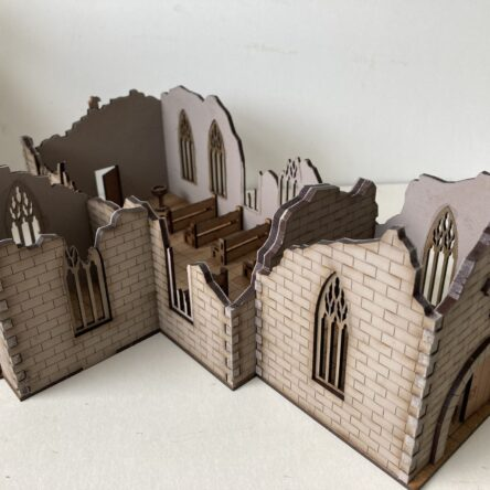 28mm Ruined Norman Church Small version KIT