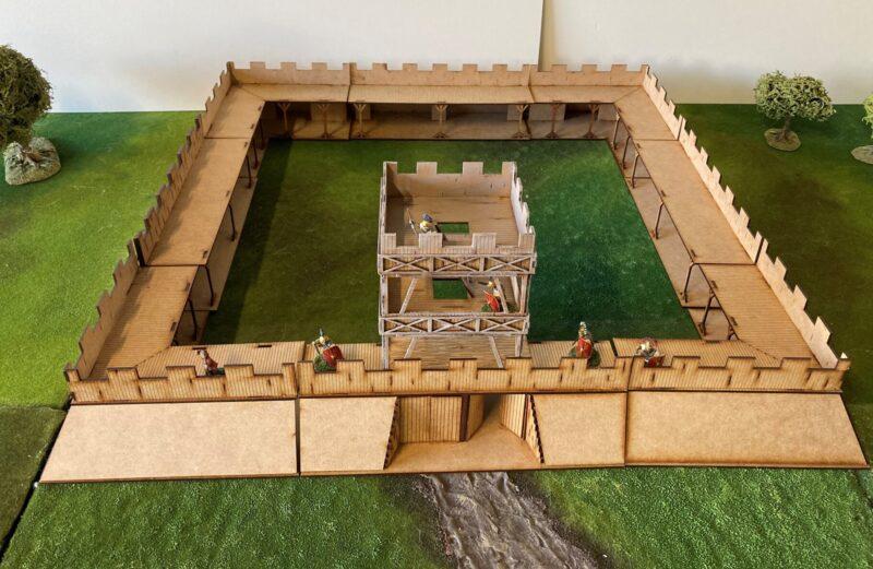28mm Timber stockade fort.