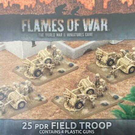 15mm  Flames of War British 25pdr field troop (plastic)