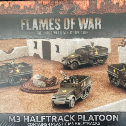15mm  Flames of War US M3 Half track platoon mid war