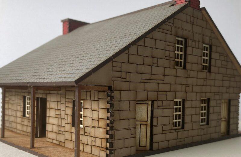 28mm ACW Battle of Gettysburg Thompson House.